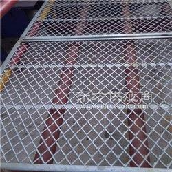 钢板网护栏 菱形钢板网冲孔脚踏网加工定制 镀锌菱形钢板网 铝板钢板网规格图片