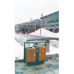 不锈钢街道垃圾桶、绿享环卫(在线咨询)、中卫街道垃圾桶图片
