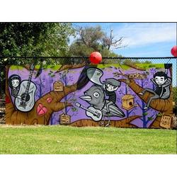 墙体涂鸦qy8千亿国际官网、淮安涂鸦、墙体彩绘选择龙门彩绘工作室(查看)图片