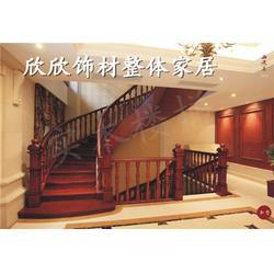 实木楼梯造价|欣欣饰材(在线咨询)|太原实木楼梯图片