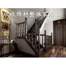 中式仿古实木楼梯定做_欣欣饰材家居_太原实木楼梯图片