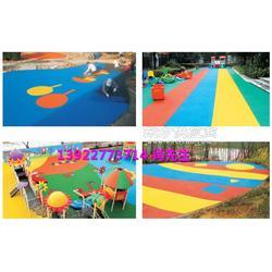 厂家承接各类场地幼儿园户外公园小区安全地垫-橡胶地垫-现浇地垫-现场施工找梦航玩具厂家图片