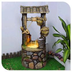 假山流水喷泉,绿之水树脂工艺,鱼缸假山流水喷泉图片