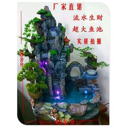 室内假山流水盆景,东莞假山流水盆景,绿之水树脂工艺图片