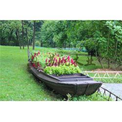 景观装饰船 5米公园仿古木船 户外布置摆设木船 款式可来样订做图片