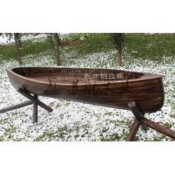 3米仿古裝飾船 景觀裝飾木船 木制裝飾品木船 純手工制做圖片