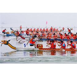22人18.3m木质龙舟 国际标准比赛龙舟 玻璃钢龙舟 端午龙舟大赛专用图片