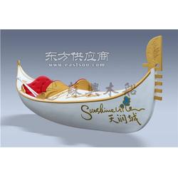 5m精品貢多拉木船 貢多拉手劃船 歐式景觀裝飾木船 純手工制造圖片