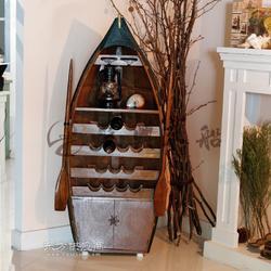 木质船型酒柜 欧式装饰摆件木船 景观装饰摆设船 客厅装饰木船图片