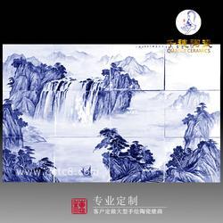 陶瓷瓷板画镶嵌定做造型_种类_样式_定制镶嵌瓷板画工艺 规格图片