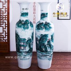 单位庆典新店开业送礼用的陶瓷大花瓶纪念礼品花瓶图片