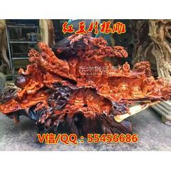 红豆杉根雕木质工艺品 江南山水 雕刻天然红豆杉木雕摆件图片