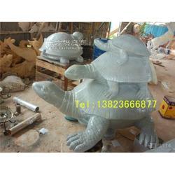 绿化园林玻璃钢仿真乌龟组合雕塑小品图片