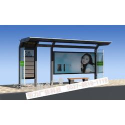 社区滚动看板候车亭不锈钢候车亭图片