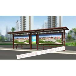 不锈钢滚动灯箱农公交候车亭不锈钢候车亭图片