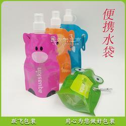 创意精美可定制logo可折叠塑料吸嘴包装水袋 异形吸嘴袋水壶图片