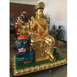 铸铜文殊普贤-铜文殊普贤厂家-纯铜文殊菩萨,哪家质量好树林铜雕图片