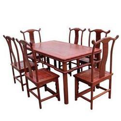 中式榆木家具床,温州榆木家具,聚隆家具可定做图片