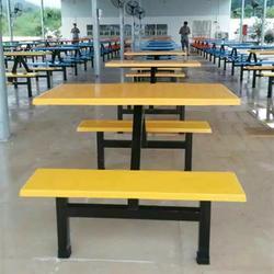 东营玻璃钢餐桌,汇霖玻璃钢厂,食堂玻璃钢餐桌图片