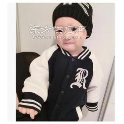 新款纯棉加绒加厚宝宝棒球服 儿童长袖连体爬服两件套图片