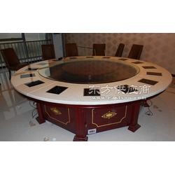 实木火锅桌理石不锈钢火锅桌椅电磁炉燃气灶烧烤桌椅组合可定做图片