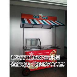 流动冰淇淋机车冰激凌流动车哪里有卖的 无电流动冰车厂家图片
