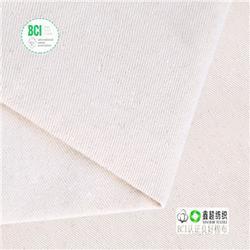 精梳双经双纬有机棉布马丁布厂家-有机棉布OCS有机麻棉混纺布图片