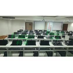 K146翻转电脑桌 学生双人电脑翻转桌 培训翻转器电脑桌图片