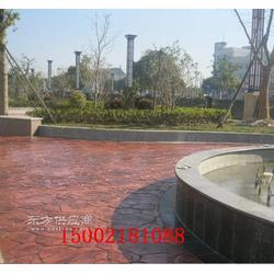 彩色压膜混凝土,水泥压模路面图片