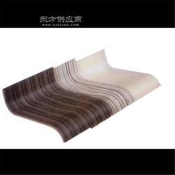 款式新颖,异形弯木板加工,曲木吧椅白胚定制,供应胡桃木色耳机架图片