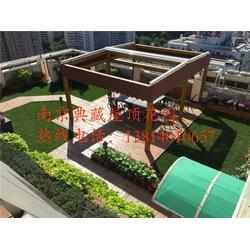 马鞍山屋顶花园- 南京典藏装饰-屋顶花园设计图片