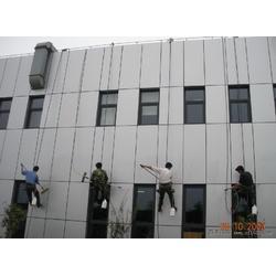 大厦外墙清洗-渝北人和外墙清洗-重庆洁万家清洁公司(查看)图片