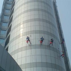 渝中区两路口外墙维修|高空玻璃清洗|蜘蛛人外墙维修图片