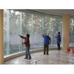 高空外墙清洗_办公室玻璃清洗_双桥清洁公司图片