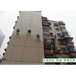 高空外墻排險,重慶龍頭寺外墻排險,玻璃外墻清洗圖片