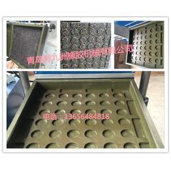再生橡胶颗粒地垫地砖硫化带模具_地砖硫化机_锦九洲图片