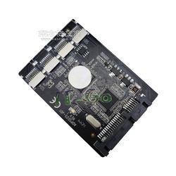 IT-GO Micro SD转SATA转接卡 支持4个TF卡 组RAID TF卡转SATA tf raid图片