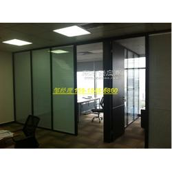中空百叶玻璃隔断 两层玻璃夹百叶隔断墙 双层玻璃中间带百叶隔断图片