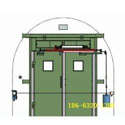 对开式无压风门 顺达对开式全自动风门组成与装置原理图片