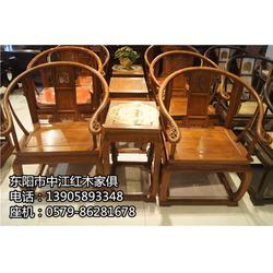 红木餐桌-中江红木家俱质量好-老挝酸枝红木餐桌定做图片