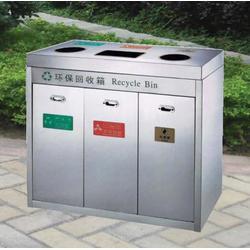 来宾垃圾桶_楠领金属_楼盘垃圾桶图片