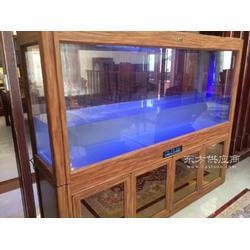 木纹烤漆玻璃鱼缸生态鱼缸-泓润生态水族有限公司图片