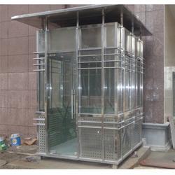 不锈钢岗亭工厂-合肥华来-合肥不锈钢岗亭图片
