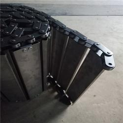 排屑机不锈钢链板_悦达链网定做_北京不锈钢链板图片