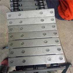 北京不锈钢链板|悦达链网供应商|重型输送不锈钢链板图片