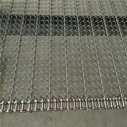 德州悦达链网厂家、茂名网带、不锈钢链杆式网带图片