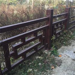 上虞河道仿木栏杆_河道仿木栏杆安装_欧庭建筑(优质商家)图片