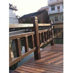 台州混凝土仿木栏杆、欧庭建筑——诚信经营、混凝土仿木栏杆施工图片