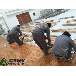 多功能厅A级运动木地板施工图片