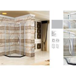 孝感弧形淋浴房|博意不绣钢卫浴门|弧形淋浴房品牌图片